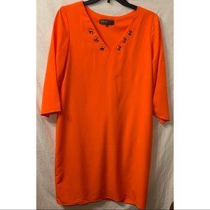 Donna Rico New York Orange Dres Size 6